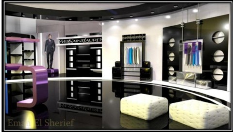 ysl show room design proposal
