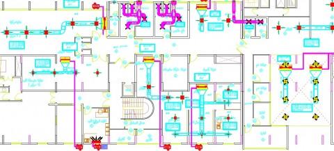 تصميم أعمال التكييف لمركز طبي