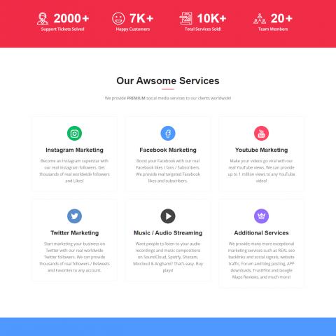 صفحة هبوط موقع بيع لايكات و مشتركين مواقع تواصل