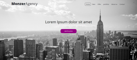 تكويد موقع وكالة متجاوب بإستخدام HTML / CSS / JQuery
