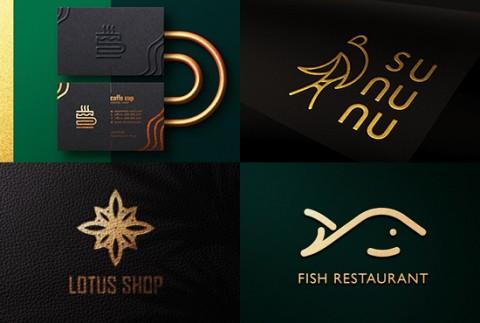 شعارات حديثة وإبداعية (outline logos)