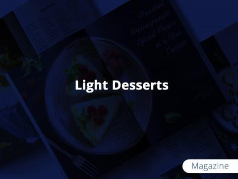 """مجلة للحلويات الخفيفة """"Light Desserts Magazine"""""""