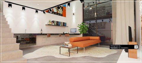 تصميم شقة صغيرة مودرن