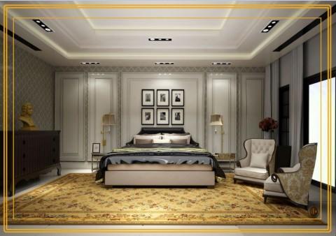 تصميم لغرفة نوم رئيسية  (الامارات)