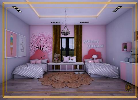تصميم غرفة اطفال بنات (السعودية)