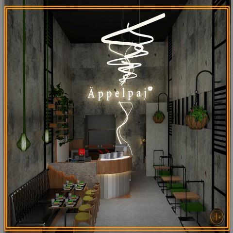 تصميم  داخلى  لمطعم  ( السعودية)