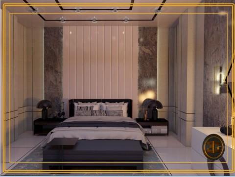 تصميم داخلى لغرف نوم رئيسية طراز مودن