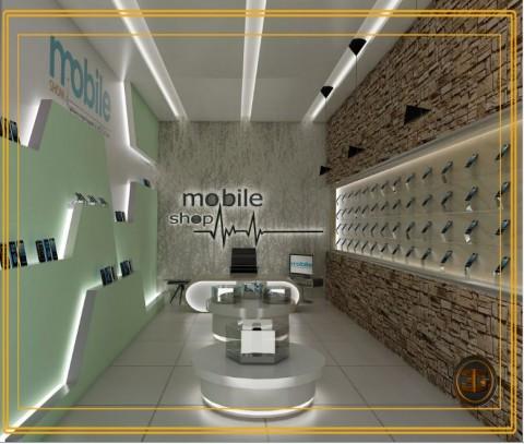 تصميم  داخلى لمحل  جوالات (السعودية)