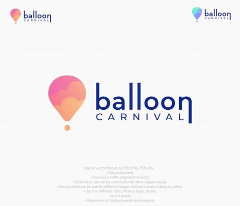 تصميم شعار ballon carnival