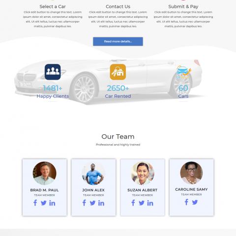 موقع لشركة تأجير سيارات