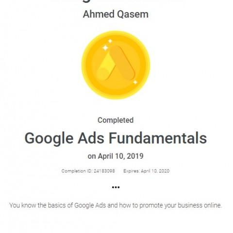 شهادة معتمدة جوجل أدوردز Google Adwords