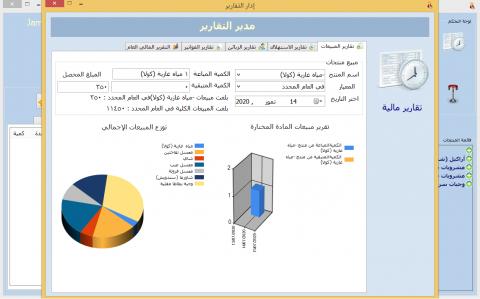 تطوير تطبيق سطح مكتب لإدارة المطاعم ومزود بمدير تقارير رسومي وبياني