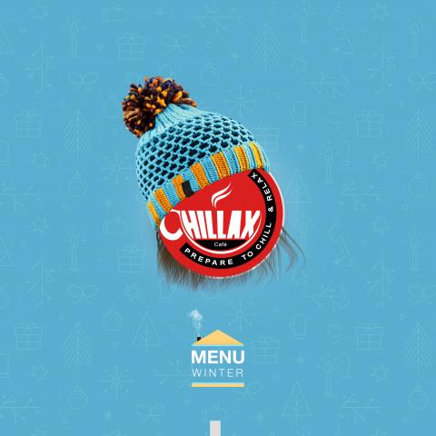 Chillax cafe   logo & menu