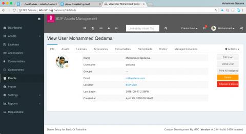 Laravel custom web app