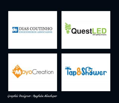 تصميم شعارات باللغة الانجليزية للعديد من الشركات والمواقع الغربية - Logos Designs