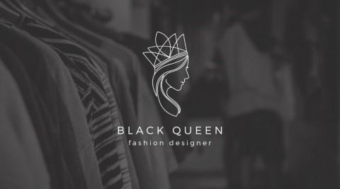 تصميم شعار Black Queen - مصممة أزياء