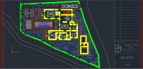 عمل مخطط معماري 2d