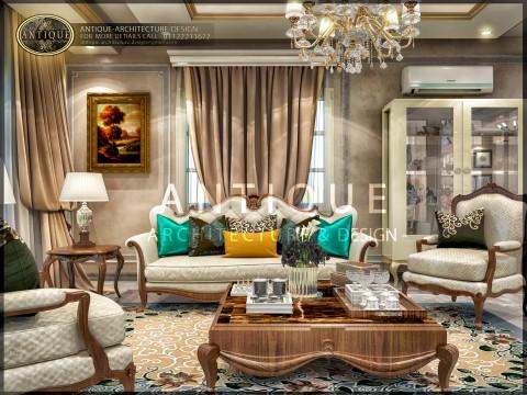 غرفة معيشة وغرفة طعام في مدينة الشروق