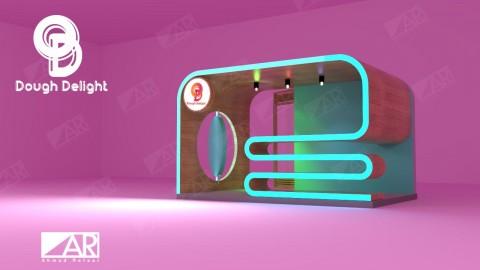 تصميم BOOTH في مول 3D  لبيع الحلويات