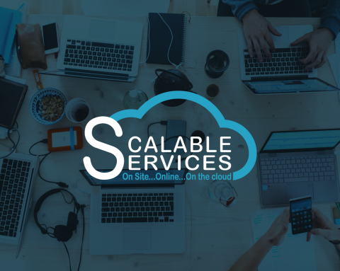 Logo and Stationary designs for Scalable Services