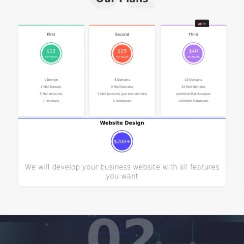 خدمات استضافة وتصميم مواقع