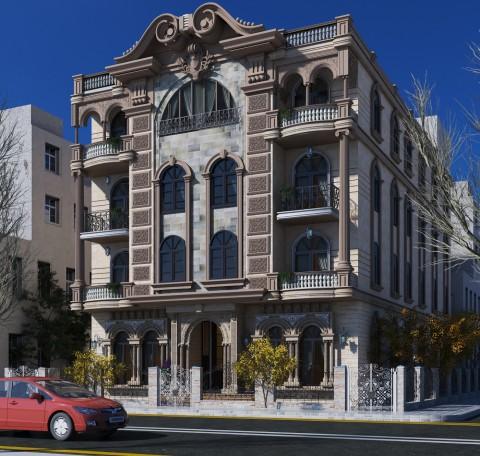 exterior villa 3d max