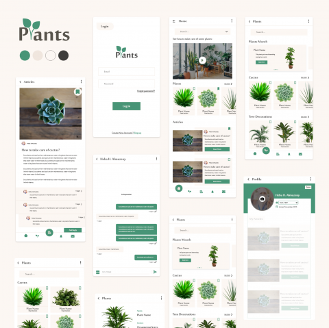 UI/UX Design Plants App