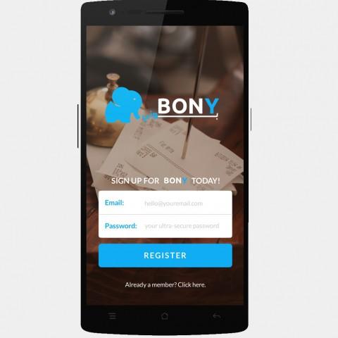 ايقونة تطبيق بوني و تطبيق منعطف