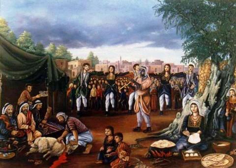 إستقبال عرسان (تراث فلسطيني)