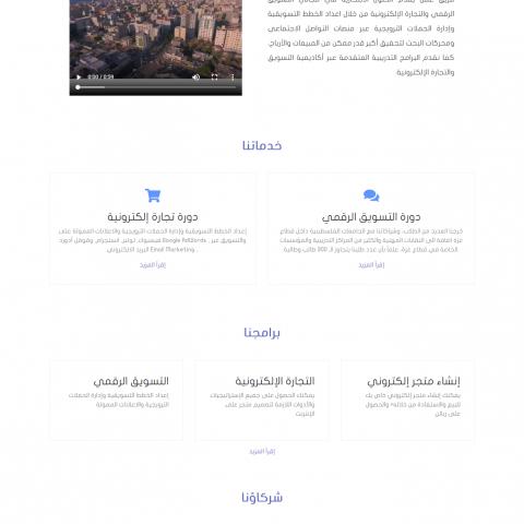 تصمصم موقع إلكتروني لشركة SeoPro للتجارة الإلكترونية
