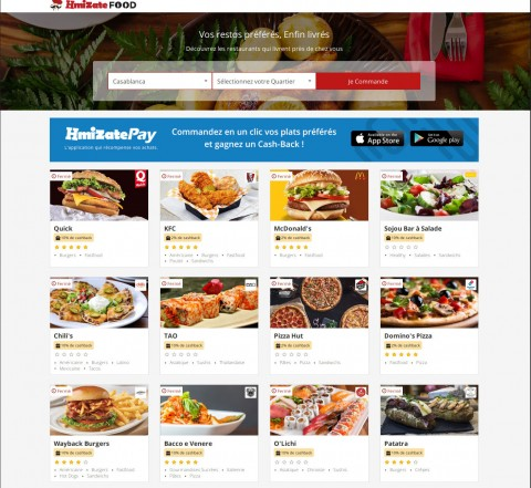 Hmizate Food - Your delivery service in Casablanca.