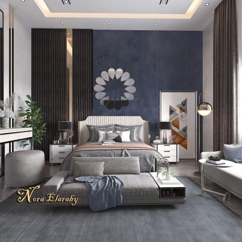 تصميم غرفه نوم بفيلا بالسعوديه
