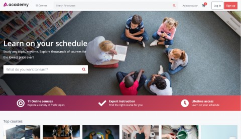 منصة التعليم الالكتروني  - LMS -  مع التطبيق الخاص بها