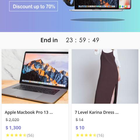 Flutter E-Commerce UI | واجهة تطبيق متجر الكتروني بـ Flutter