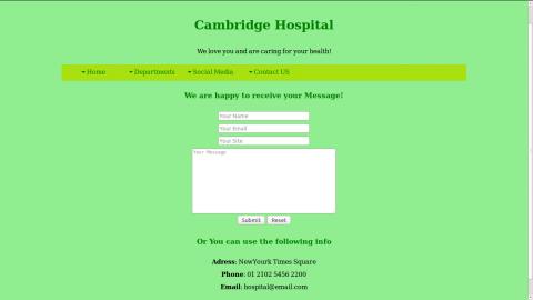 موقع تعريفي بمستشفى