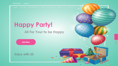 landing page for my party