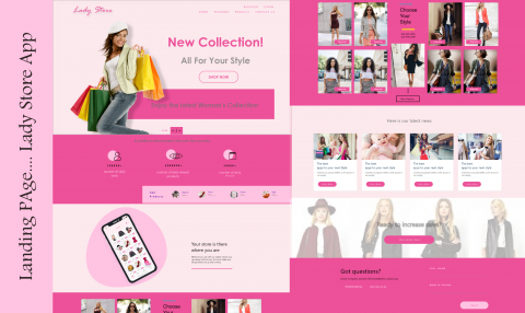 landing page for lady store