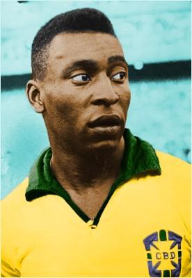 تلوين صورة اللاعب Pelé