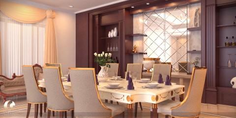 تصميم صالة طعام فاخرة
