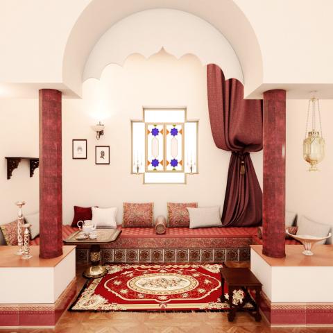 تصميم مجلس على الطراز المغربي