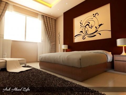 تصميم غرفة نوم فندقية