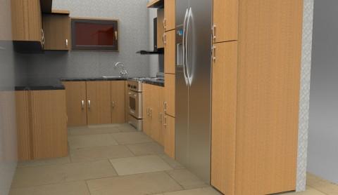 تصميم مطبخ ثلاثى الابعاد