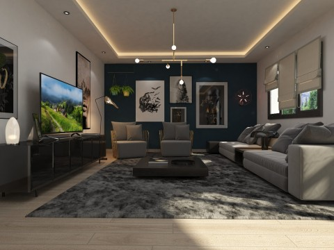 تصميم لشقة سكنية