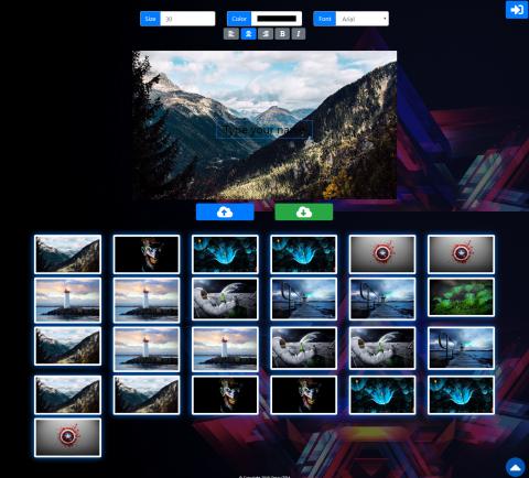 تطبيق ويب لكتابة الأسماء على الصور
