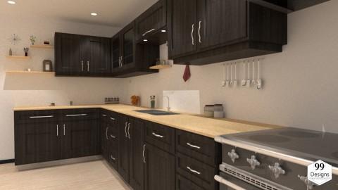 تصميم لمطبخ مجهز لأحد شركات تجهيز المطابخ - cuisine équipée