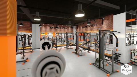 تصميم داخلي لقاعة رياضة بالطابع الصناعي - industriel design