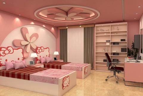 تصميم غرفة بنات