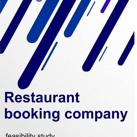 دراسة جدوى لشركة حجوزات مطاعم