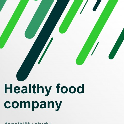 دراسة جدوى لشركة اغذية صحية ووجبات للرياضيين