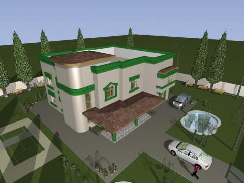 مشروع تصميم فلة سكنية